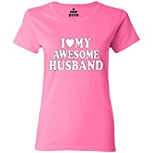 Shop4Ever I Love My Awesome Husband Women's T-Shirt Couples Shirts
