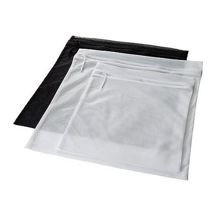 Bolsas de Ikea para colada 15 W/cremalleras y ganchos para ropa delicada en la