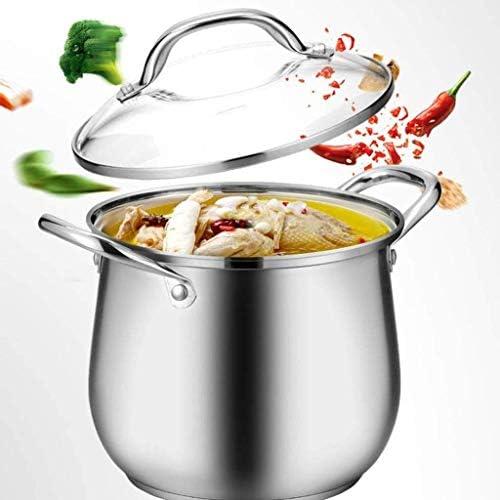 Soupe pot - acier inoxydable grande marmite épaisse capacité cuisinière à induction for la soupe de gaz de pot de viande bouillie de ménage lucar (Size : 28cm)
