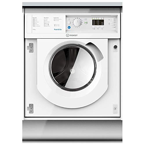 Indesit BIWDIL7125 7kg Wash 5kg Dry Integrated Washer Dryer With Push&Go - White