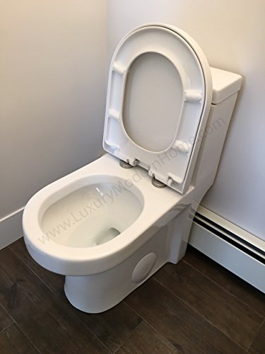 """GALBA SMALL TOILET 24.5"""" long x 13.5"""" wide x 28.5"""" high inch One Piece 24"""" 25"""" cUpc UPC Short Compact Bathroom Tiny Mini Commode Water Closet Dual Flush Shortest Projection elongated Concealed Trapway"""