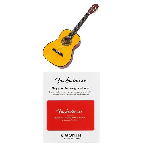 Music Alley MA34-N Classical Junior Guitar with 6 Months of Fender Play
