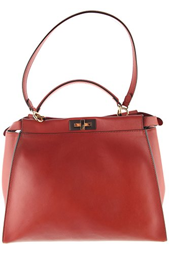 Bag Red Fendi (Fendi Women's 8Bn210z1jf0r9l-Mcf Red Leather Shoulder Bag)