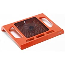 "Pwr+ 16"" PwrPad with 140mm Silent Fan for Apple, Acer, Asus, Dell, Hp, Lenovo, Samsung, Sony, Toshiba and others Laptop Notebook Cooling Pad Bed Lap LED Orange"