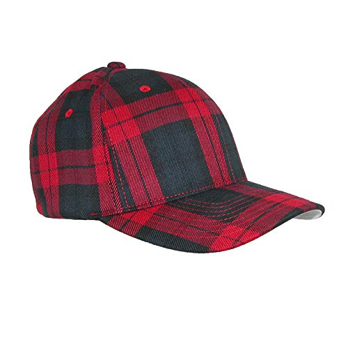 Flexfit Mens Tartan Plaid Elastic Stretch Fit Baseball Hat, Large/Xlarge, -