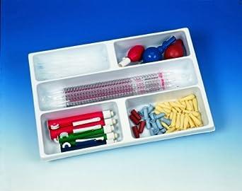 Heathrow Scientific HD2538B Polystyrene Drawer Organizer with 5 Compartment Tray, 460mm Length x 307mm Width x 63mm Height