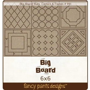 Fancy Pants Big Board Chipboard 6 Inch by 6 Inch Sheet, Mats/Corners/Frames -