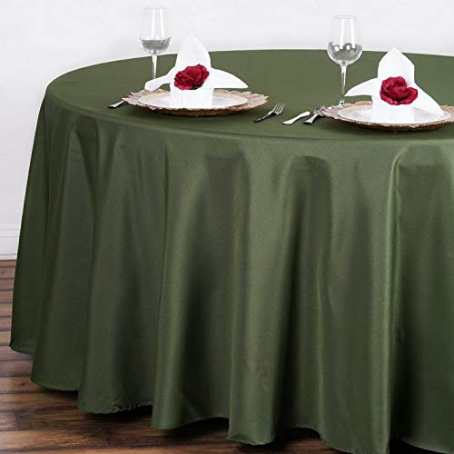 Mikash 10 pc 108 Round Polyester Tablecloth Tabletop Wedding Wholesale Decorations | Model WDDNGDCRTN - 17442 | ()
