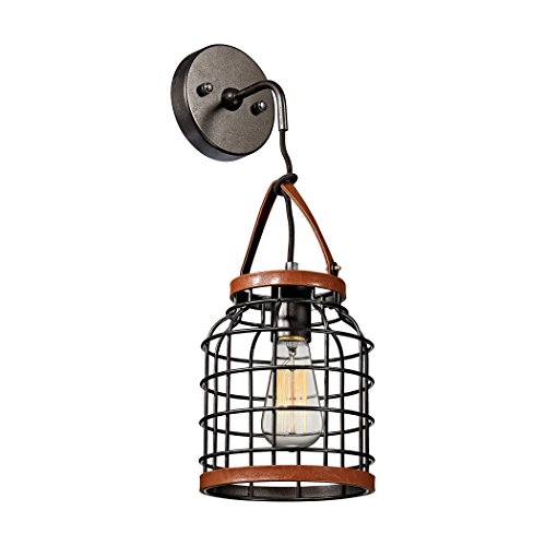 Price comparison product image Alumbrada Collection Purcell 1 Light Wall Sconce In Weathered Iron
