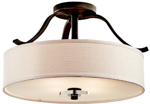 Kichler 42486OZ Leighton Semi-Flush 4-Light, Olde Bronze