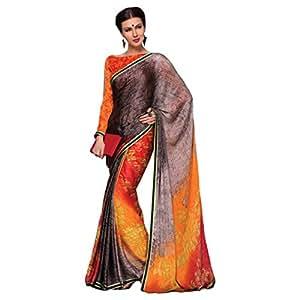 Shilp-Kala Satin,Chiffon Printed Multi Colored Saree SKNSU70001