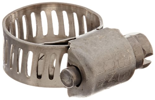 inless Steel Hose Clamp, Worm-Drive, SAE Size 4, 7/32
