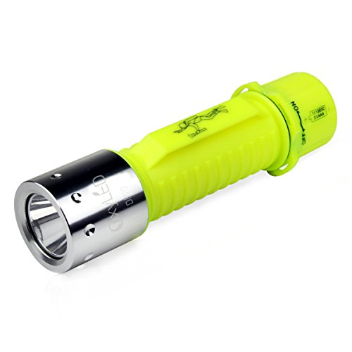 OxyLED DF20 Rechargeable Super Bright LED Submarine Waterproof Underwater Diving Torch Light, Yellow Super Strobe