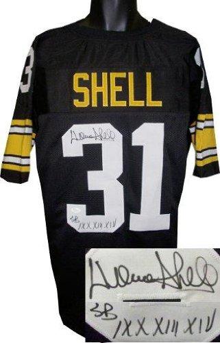 159898dc578 Donnie Shell Autographed Jersey - Black TB Custom Stitched Pro Style SB IX  X XIII XIV