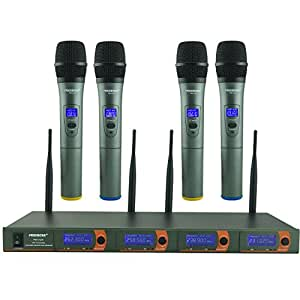 freeboss fb v04 4 handheld vhf wireless microphone musical instruments. Black Bedroom Furniture Sets. Home Design Ideas