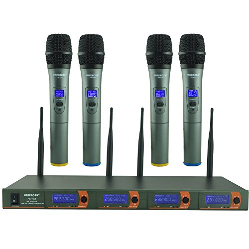 Freeboss FB-V04 4 Handheld Vhf Wireless Microphone by Freeboss