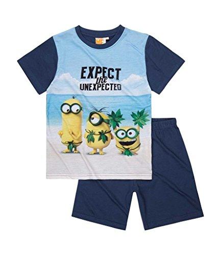 Minions (Ich - Einfach Unverbesserlich) Shorty-Pyjama für Jungen - Blau/Marine - Gr. 116 (6 Jahre)