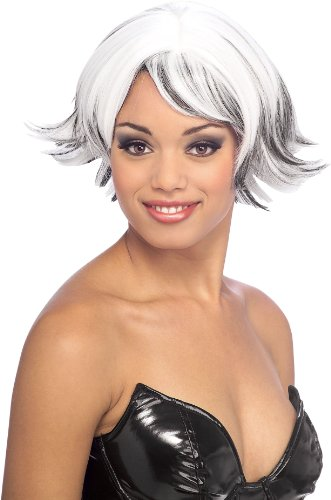 Rubie's Venturous Storm Style Wig, Black/White, One Size -