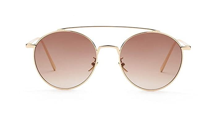 2b60d812b7d GAMT Comfortable Fashion Round Sunglasses for Men and Women Metal Frame PC  Lens Clear Film Sun