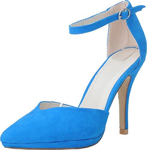 36 Bleu Femme Bleu Find Nice Cheville Bride 5 wqxv7ItY