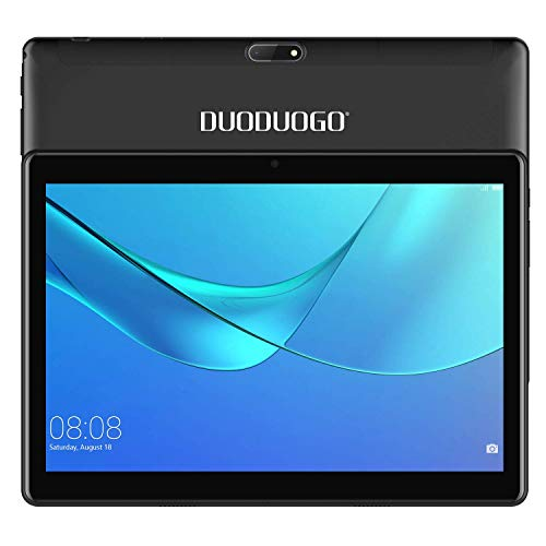 DUODUOGO 4G LTE 10.1 Inch Android Tablet PC Android 7.0, OTG, 2GB RAM, Hard Disk 32GB 8500mAh Battery - IPS Screen HD 1280 800 Pixel WiFi Tablets Phablet (10'', Black)