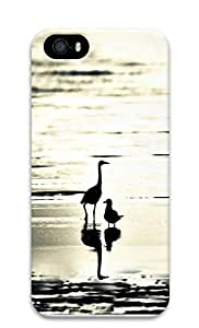 iPhone 5 5S Case Large and small beach bird 3D Custom iPhone 5 5S Case Cover wangjiang maoyi