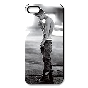 Fork-N8 Design PC-Beauty Pop Idols-Justin Bieber Black Print Hard Shell Cover Case for iPhone 5