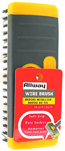 (Allway Tools SB619 Soft Grip Carbon Steel Heavy Duty Steel Wire Brush)