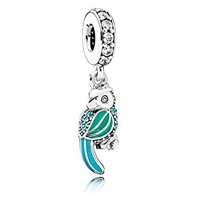 Pandora Tropical Parrot Blue Turquoise Holiday S925 ALE Zsnn3