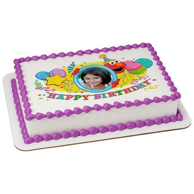 Deco The Sesame Street Elmo Edible Frame Cake Image Topper