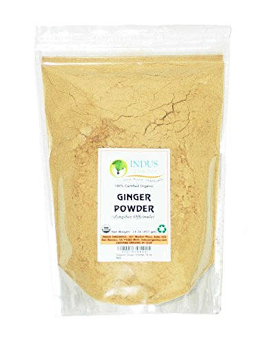 Indus Organics Ginger Powder, Refill Bag, 1 Lb, Sulfite Free, Premium Grade, Freshly Packed