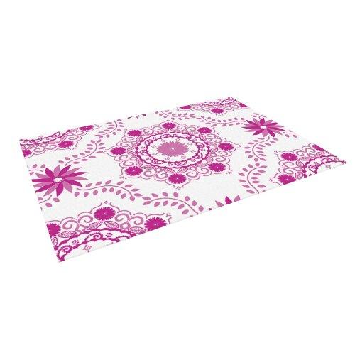 Kess InHouse Anneline Sophia ''Let's Dance Fuschia'' Pink Floral Outdoor Floor Mat/Rug, 4-Feet by 5-Feet by Kess InHouse