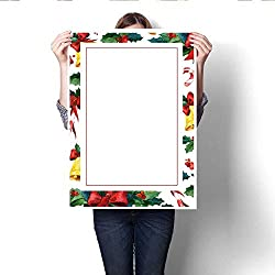 """Anshesix Canvas Painting Sticker Winter Holyday Greeting Card Watercolor Invitation Card Template Print On Canvas for Wall Decor 16""""x20"""""""