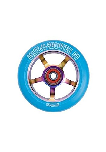 Grit 5 Spoke Pro Scooter Wheels 100mm [PAIR] (Blue)
