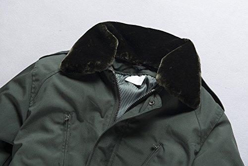 Cappotto A Bavero Colore Militare Manica Di Vento Con Maschile Fym Giacche Giacca Dyf Cerniera Tasca Lunga Solido Verde zES4CCqI