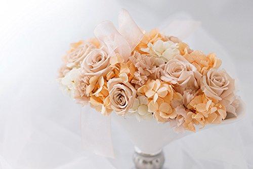 【ロザリーヌ】 プリザーブドフラワー アレンジメント フラワーアレンジ 結婚祝いや誕生日プレゼント、還暦祝いのギフトに (ヌードピンク) B079VGMFGZ ヌードピンク ヌードピンク