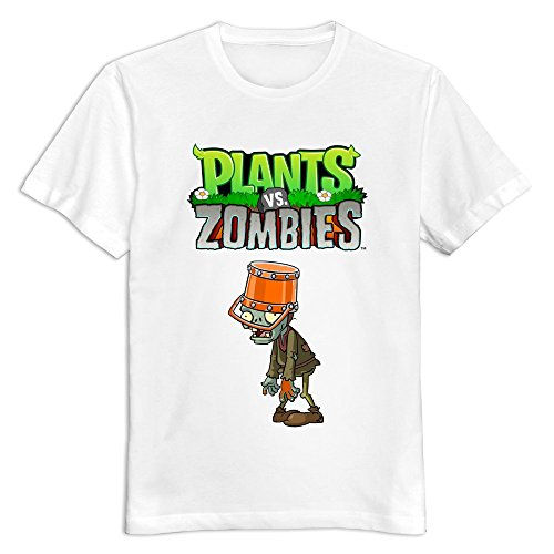 Men Plants Vs. Zombies Custom Cool Size M Color White T-Shirt By Mjensen