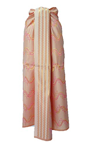Thai Myanmar Synthetic Silk Fabric Mandalay MT30 for women Skirt Dress MF26 (Mandalay Skirt)