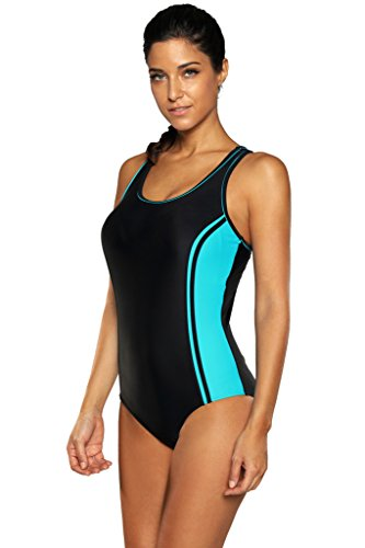 ATTRACO Womens One Piece Swimsuit Sports Swimwear Women Training Bathing Suit