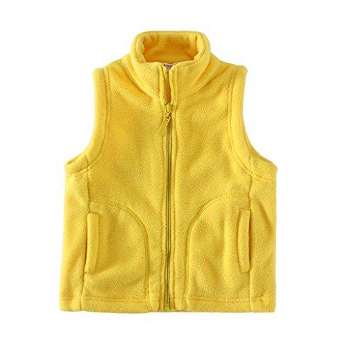 (Mud Kingdom Soft Boys Vest Jacket Fleece Lightweight Size 6/7 Yellow)