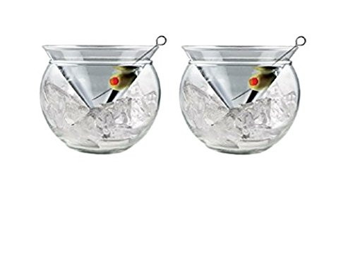 World's Coldest 2-Part Martini Chiller (Set of 2) - Caviar Server - Shrimp (Martini Chiller Set)
