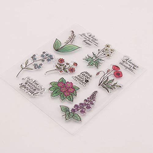 GIMITSUI Store Clear Silicone DIY Stamps (Colorful Flower)