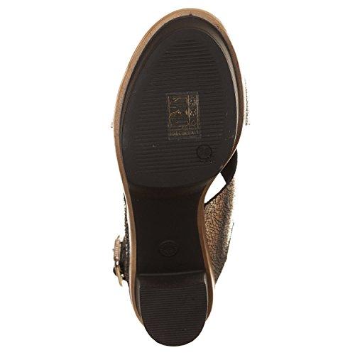 VialeScarpe Sas-1687lmag_40 - Zapatos de cordones de Piel para mujer plateado plateado 40 plateado