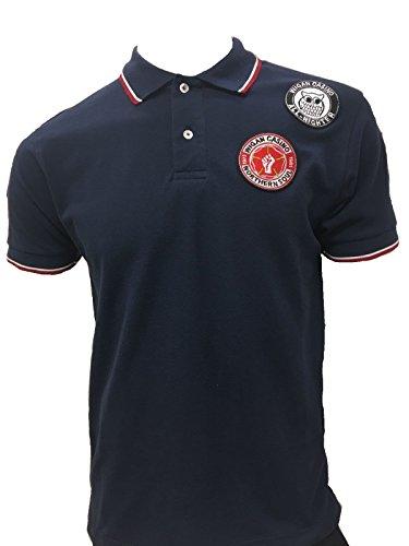 Wigan Casino Herren Poloshirt blau navy M