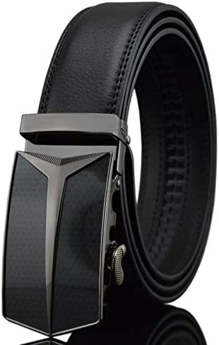 Automatic Buckle Rcnry Mens Business Middle-Aged Trousers Belt Youth Leather Belt
