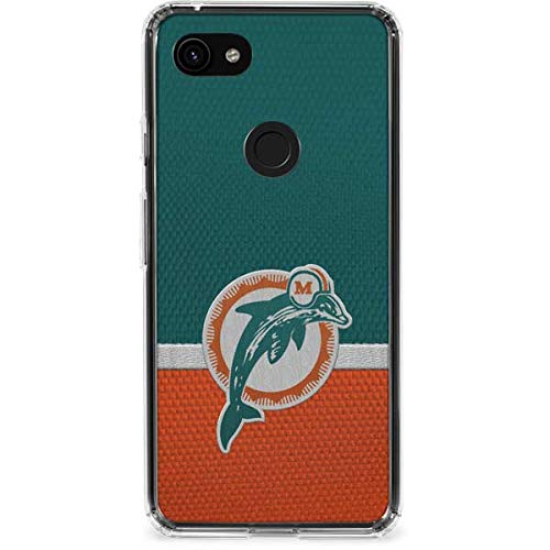 Skinit Miami Dolphins Vintage Google Pixel 3a Clear Case - Officially Licensed NFL Phone Case Clear - Transparent Google Pixel 3a Cover