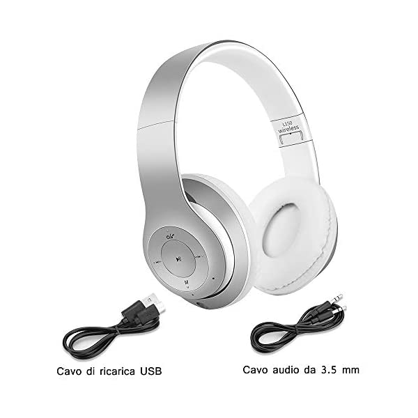 Edifier W820BT Cuffie Bluetooth Cuffie Wireless Pieghevoli con Durata della Batteria di 80 Ore Oro