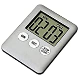 Digital Kitchen Timer Large LED Display Count Up/Down Timer with Loud Alarm Great for Cooking Baking Sports Game (Silver)