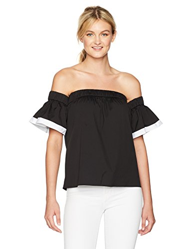 MILLY Women's Bare Shoulder Top with Combo