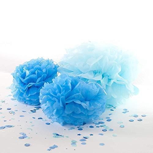 Pack of 3 Blue Pom Poms -